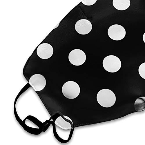 Mouth Cover Mask Black White Bohemian Polka Dot Fashion Anti Dust Half Face Masks