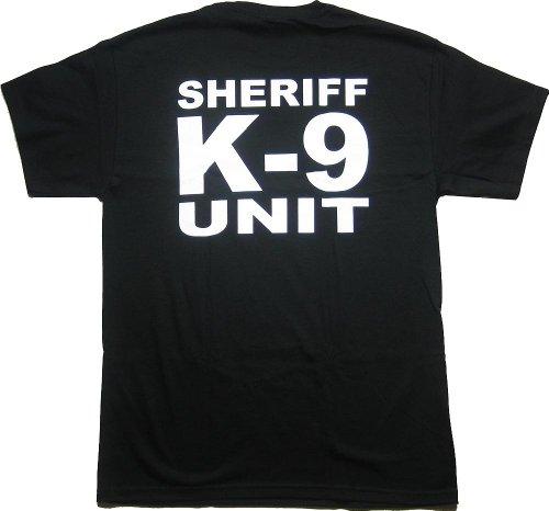 PoliceTees K9 Unit SHERIFF Duty T-Shirt - X-Large Black (Unit T Shirt compare prices)