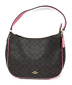 upc 192643034259 product image for COACH F29209 ZIP SHOULDER BAG IN SIGNATURE CANVAS BROWN PINK | barcodespider.com