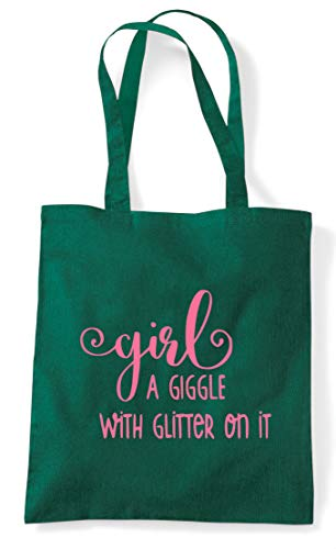 Statement Shopper With Bag On Dark A Definition It Glitter Green Tote Giggle Girl qZp0vFz