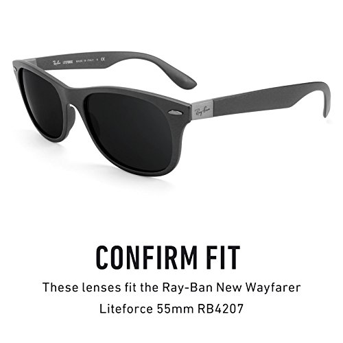 repuesto Lentes 55mm Opciones Ray Wayfarer Liteforce múltiples para Marrón RB4207 New Oscuro — No Polarizados de Ban UUHrw5