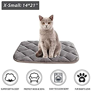 furrybaby Dog Bed Mat Crate Mat with Anti-Slip Bottom Machine Washable Pet Mattress for Dog Sleeping (XS 21x14'', Sliver Grey Mat)