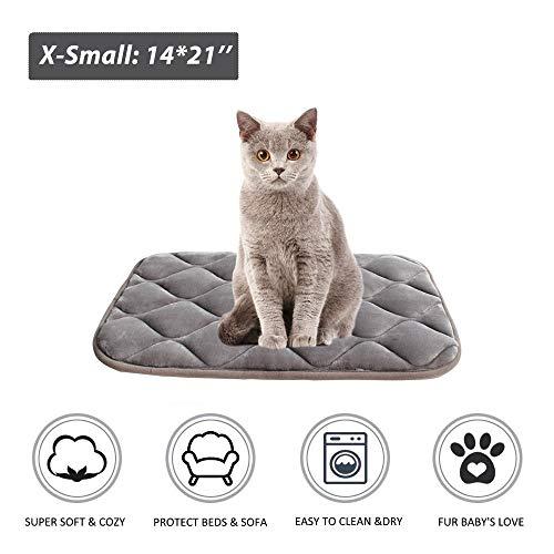 Furrybaby Dog Bed Mat Crate Mat with Anti-Slip Bottom Machine Washable Pet Mattress for Dog Sleeping (XS 21x14