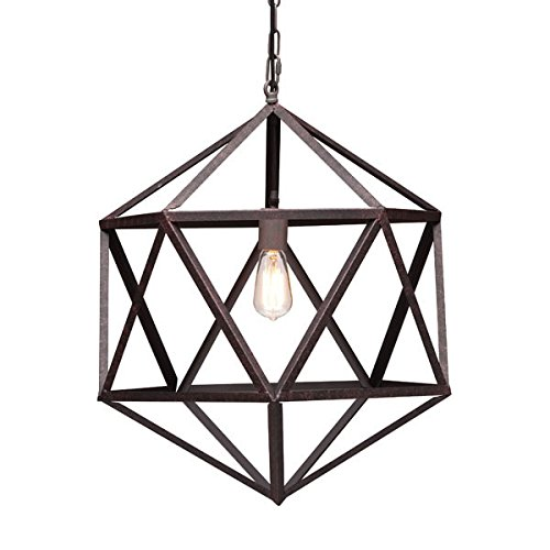 Zuo 98241 Small Amethyst Ceiling Lamp, Rust