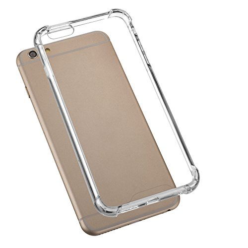 yayago Schutzhülle für Apple iPhone 6 Plus / 6S Plus Hartes Silicon Case mit geschützten Ecken Hülle Transparent