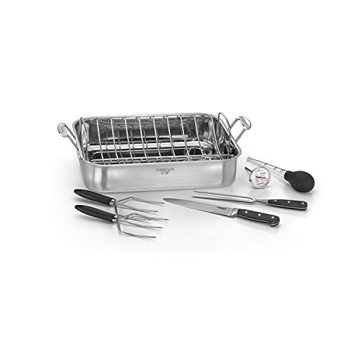 Cuisinart 7117-16PS Chef's Classic - 16'' Stainless Steel Roaster Pan, Silver by Cuisinart