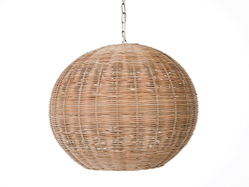 - KOUBOO 1050103 Panay Wicker Ball Hanging Ceiling Lamp, One Size, Wheat