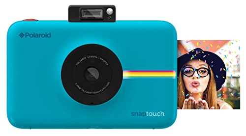 Polaroid Snap Touch Instant Print Digital Camera With LCD Display (Blue) with Zink Zero Ink Printing Technology