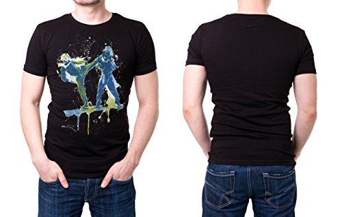 Karate_III schwarzes modernes Herren T-Shirt mit stylischen Aufdruck