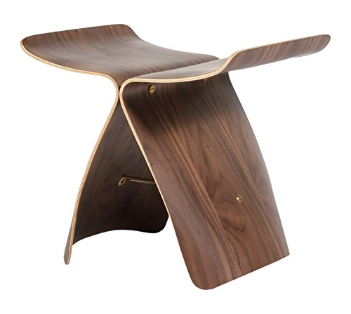- Stilnovo The Butterfly Ottoman, Walnut