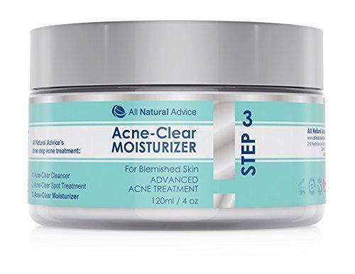Fortschrittliche Akne Behandlung Gesichtscreme hergestellt aus Kanada 120 ml für Damen und Herren für sichtbar reinere Haut, hilft gegen sensible Haut und reduziert Akne sowie Hautunreinheiten
