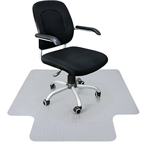 F2C 48-Inch by 36-Inch 3MM Plastic Floor Office Chair Mat Clear Protector Office Chair Rug Carpet Floor Computer Desk (1200 x 900mm )