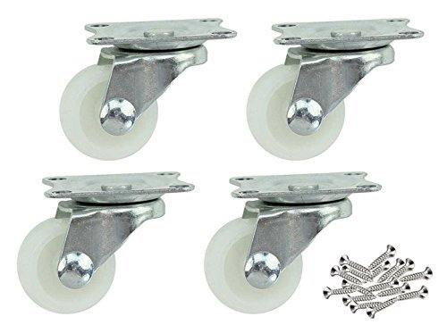 Perfil Bajo de plástico ruedas Ruedas Caster con Placa superior Heavy Duty, Caja fuerte de 360grados giratoria para todo...
