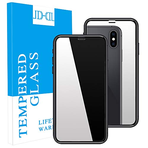 JDHDL iPhone Xs max Screen Protector,[2Pack] Premium Mirror Anti-Scratch LCD Screen Protector Bubble Free HD Film No Rainbow Effect Shield Guard Full Protective for Apple iPhone Xs max ()