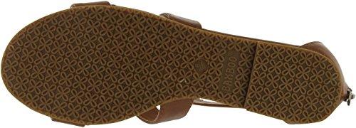Bambou Femmes Fenchel-13 Mode Sandales Plates À Lanières Châtaigne