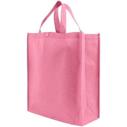 Pink Silkscreen (Reusable Grocery Tote Bag Large 10 Pack - Pink)