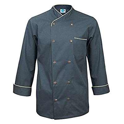 10oz apparel Twill Snap Front Chef Coat Long Sleeve