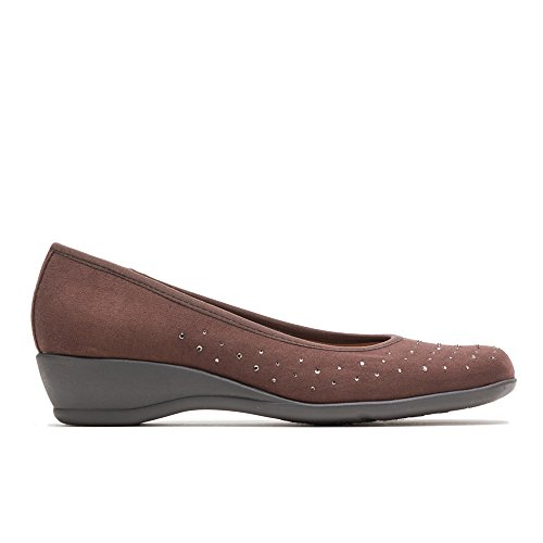 Brown Suede Pumps (Soft Style by Hush Puppies Women's Rubi Pump, Dark Brown Faux Suede, 8 M US)