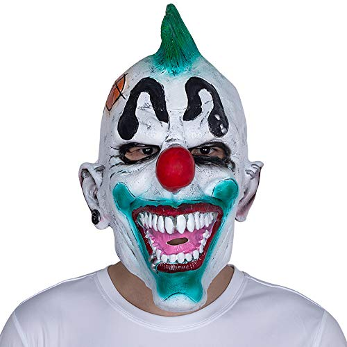 x-merry toy New Adult Punked Clown Mask Top Sale Cosplay Christmas Latex Mask Hot Halloween Clown Custom Fancy Dress