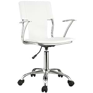 Modway Studio Office Chair In White Vinyl