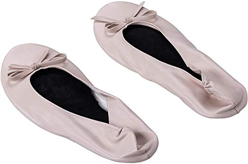 ASVP Shop Women's Foldable Portable Pumps Flats Ballet Shoes with Carrier Pouch Bag Perfect for Weddings and Parties by…