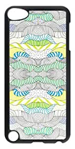 Fashion Customized Case for iPod Touch 5 Generation Black Cool Plastic Case Back Cover for iPod Touch 5th with Pattern