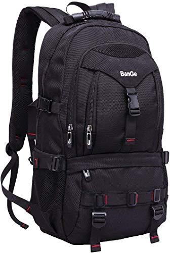 Sport Rucksack Wasserdichter Daypacks Laptoprucksäcke mit 15.6 Zoll Laptop-fach Backpack Schwarz für Herren Outdoor…