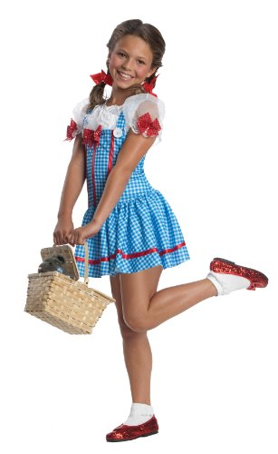 Girls Wizard Costumes (Wizard of Oz, Dorothy Dress Costume - Large)