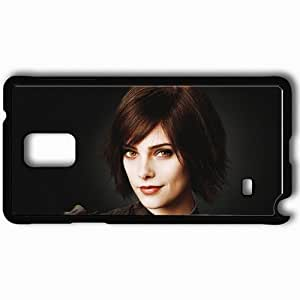 Personalized Samsung Note 4 Cell phone Case/Cover Skin Alice cullen ashley greene twilight actress face Movies Black