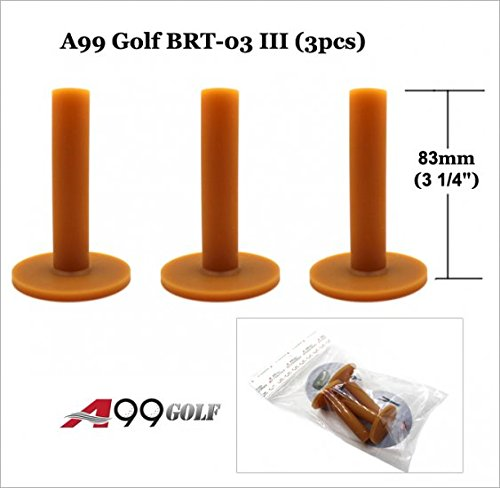 3 Rubber Tees (BRT03 A99 Golf Premium rubber tees 3 1/4