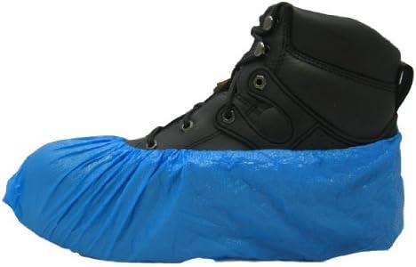 PE Disposable Plastic Shoe Covers BLUE