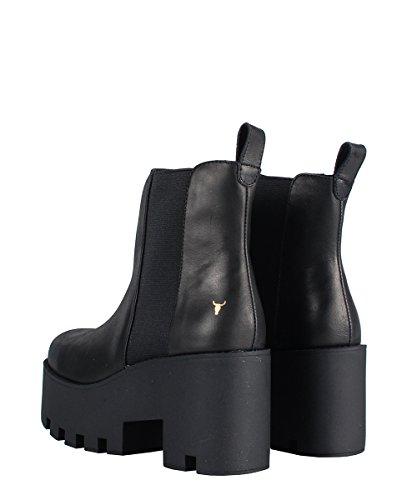 Smith bottines Noir Windsor Noires Élastique Avec Black Alien CfdBFT