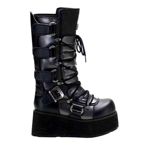Pleaser Mens Trashville-519 Boot Black-grey Pu Kr8VnU