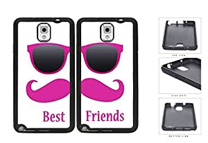 Best Friends Pink Mustache Sunglasses Rubber Silicone TPU Cell Phone Case Samsung Galaxy Note 3 III N9000 N9002 N9005 by icecream design