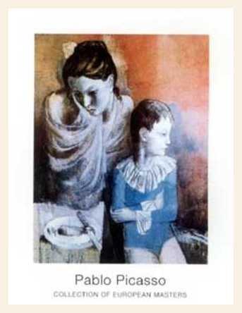 Pablo Picasso Artisten - Poster gigante con marco de madera de arce blanco barnizado