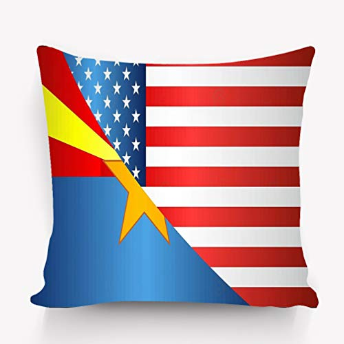 wuhandeshanbao Pillow case Flag USA Arizona State Flag USA Arizona State Mixed Flags USA Arizona 18 18 inch