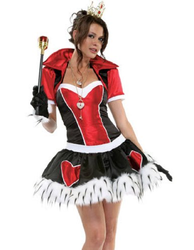 Forplay Women's Off With Her Head, Red/Black/White, Small/Medium (Red Alice In Wonderland Dress)