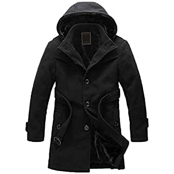 Steampunk Mens Hooded Trench Style Coat   Mens Trench Coat With Hood
