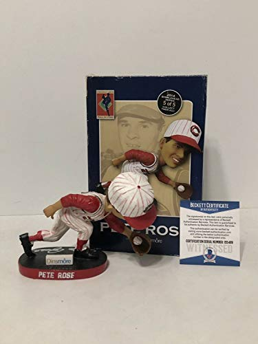 Pete Rose Autographed Signed Cincinatti Reds Hall Of Fame Baseball Bobblehead Hit King Bas - Authentic -