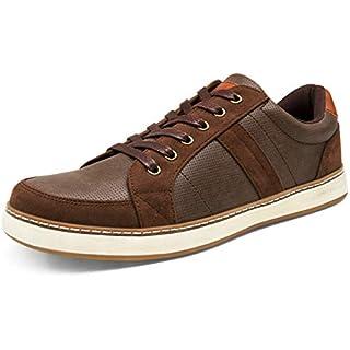 JOUSEN Men's Casual Shoes Retro Fashion Sneakers for Men Memory Foam Skate Shoes (10.5,Dark Brown)