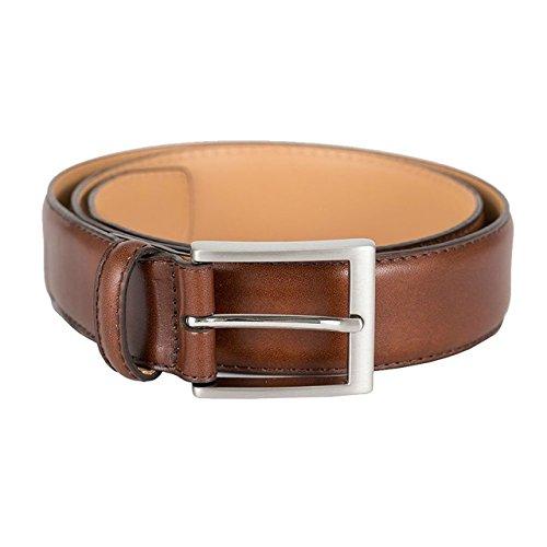 Kirkland Signature Men's Italian Leather Full Grain Belt (Brown, 34)