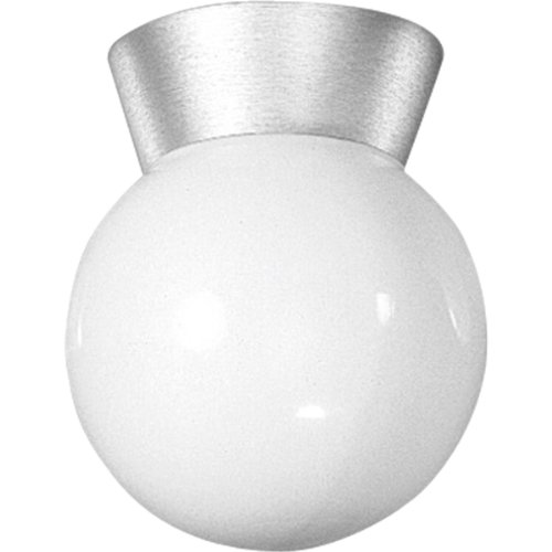 Progress Lighting P5616-16 Ceiling Fixture with Threaded Opal Glass Shades, Satin Aluminum