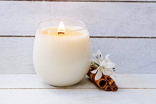 Biscotti - Organic Aromatherapy Scented Candle 100% Certified Plant Based Essential Oils Vanilla Bean, Nutmeg, Cinnamon infused in Organic Coconut Wax in reusable Glass, Vegan, Non-GMO (16 oz) by Sanari Plant Based Candle (Image #1)