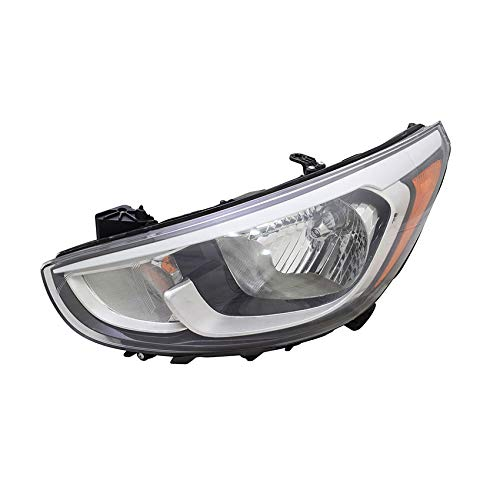 (For 2015 2016 2017 Hyundai Accent Headlight Headlamp Driver Side Replacement Capa Certified)