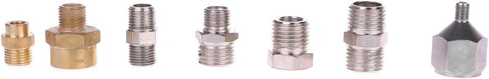 BIlinli 7Pcs Set Connettore Adattatore Kit Adattatore aerografo per Tubo compressore e Pistola a spruzzo