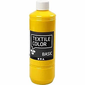 Color textil, amarillo primario, 500 ml: Amazon.es: Amazon.es