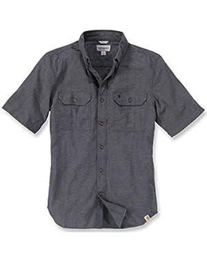 Men's Fort Short-Sleeve Shirt Lightweight Chambray Button-Front S200