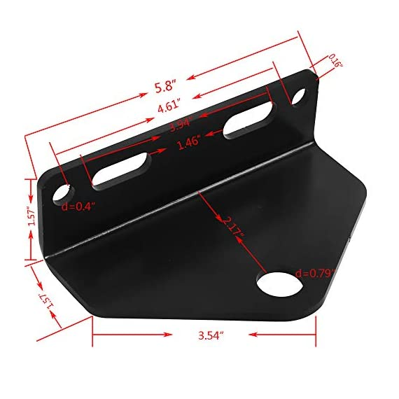 NIXFACE Universal Zero Turn Mower Trailer Hitch Heavy Duty Steel Black 2 NIXFACE LISING.Trailer Hitch Materials:Made of heavy duty steel.It has strong load carrying capacity and impact resistance. Package Include:1Pc zero turn hitch without bolts and nuts.Due to the screws of different models may not be the same, if you need, you can go to the hardware store to buy it. Vehicle Fitment:Check your mover for bolt centers,universal means it will fit any brand mower using the bolt center listed.