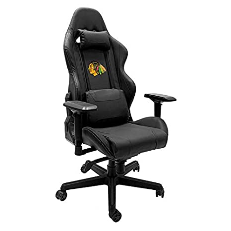 Remarkable Amazon Com Xpression Gaming Chair With Chicago Blackhawks Dailytribune Chair Design For Home Dailytribuneorg