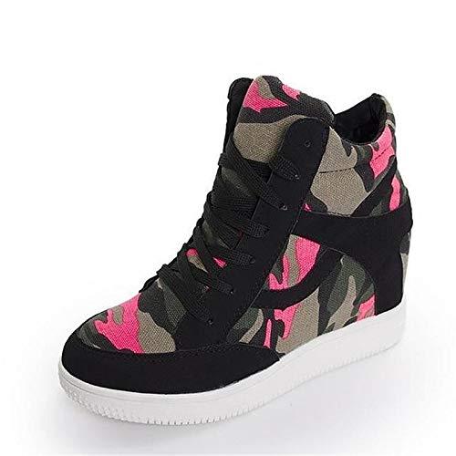 grigio piatto ZHZNVX Tacco nero primavera Scarpe Black Sneakers donna Canvas autunno stringate e da pBRafqwg